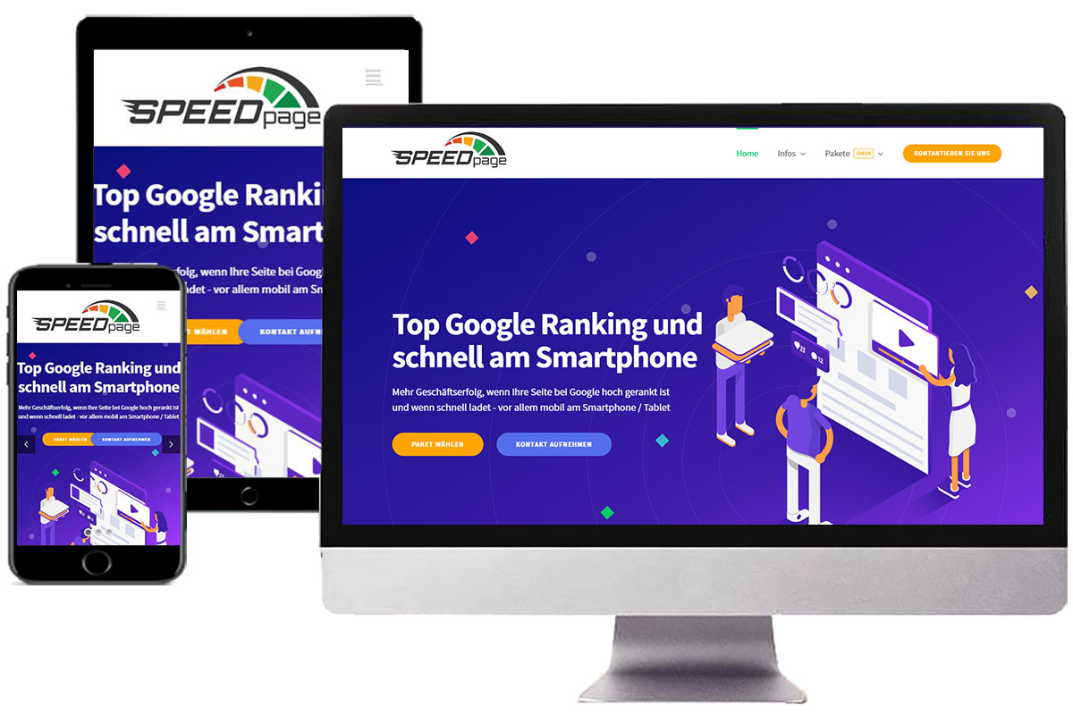 Website Optimierung für Top Google Ranking - responsive Webdesign
