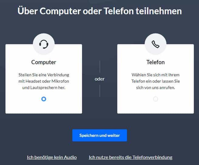 Über Computer teilnehmen